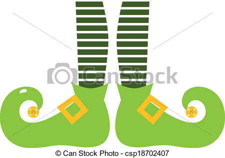 Vector Clipart of Cute elvish legs for Saint Patrick's Day.