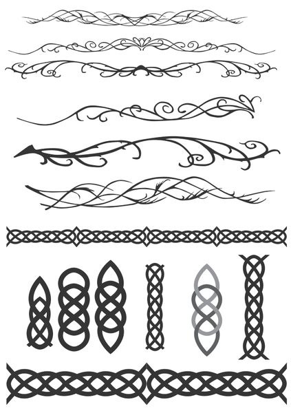 Celtic & Elven Decorations clip arts, free clipart.