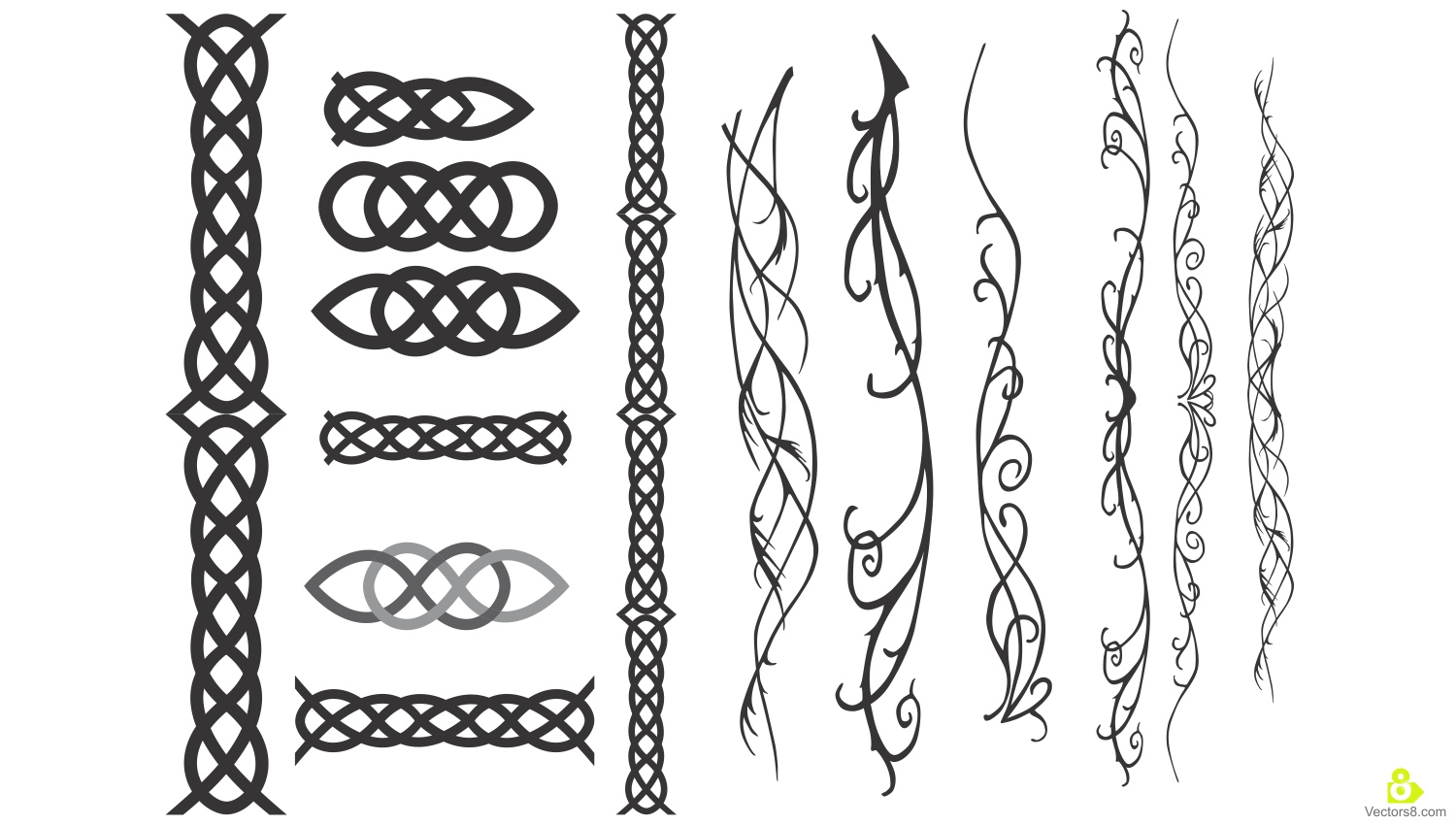 Ancient Celtic and Elvish Tattoo Designs.
