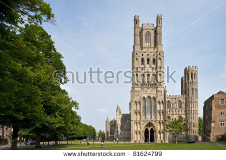 Ely Cathedral Stock Photos, Royalty.
