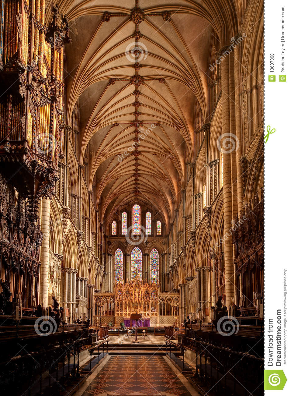 Ely Cathedral Interior Royalty Free Stock Photos.
