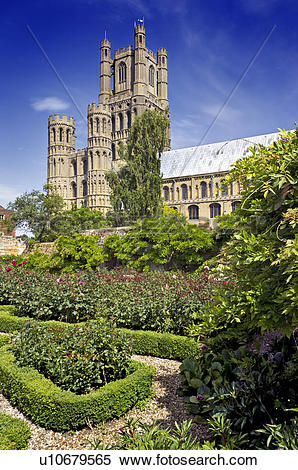 Stock Image of England, Cambridgeshire, Ely. Ely Cathedral, known.