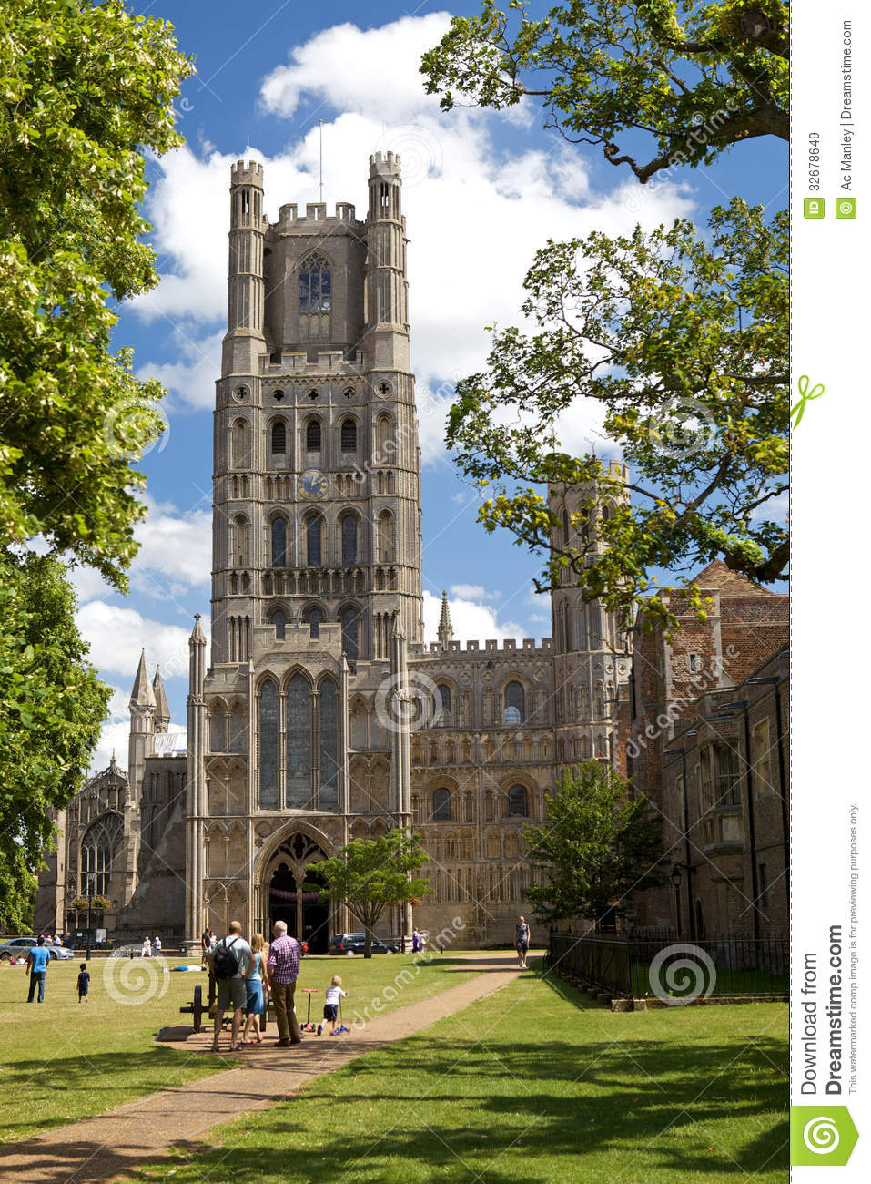 Ely Cathedral In Cambridgeshire Editorial Stock Image.