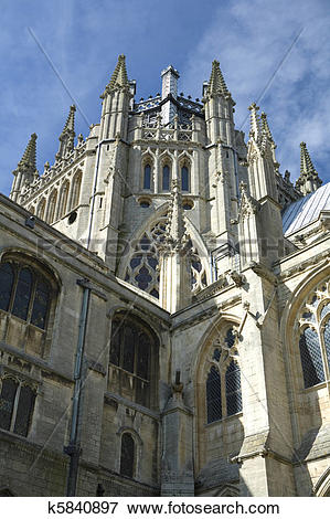 Picture of Ely Cathedral in the City of Ely, Cambridgeshire Uk.