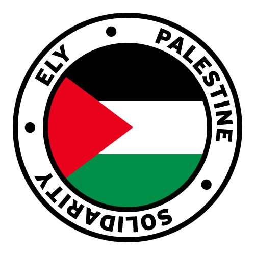 Round Ely Palestine Solidarity Flag Clip Art.