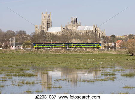 Picture of England, Cambridgeshire, Ely, A two carriage train.