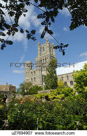 Picture of England, Cambridgeshire, Ely, A view from the monastic.