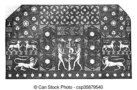 Drawing of Mosaic time of Edward III, It is in Ely, in the former.