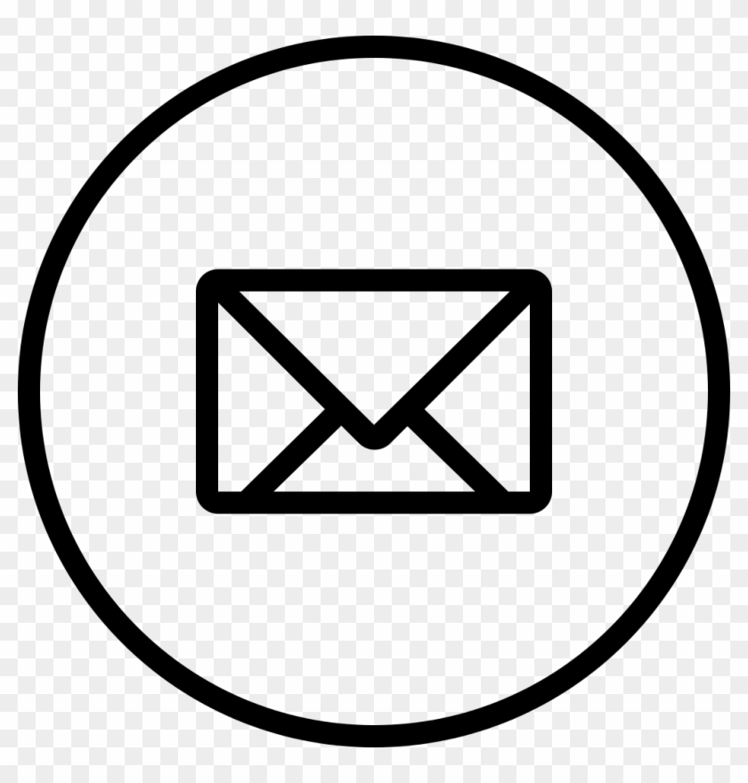 New Email Envelope Back Symbol In Circular Outlined.