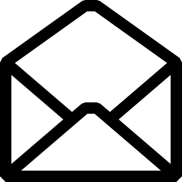 Free Black And White Email Icon, Download Free Clip Art.
