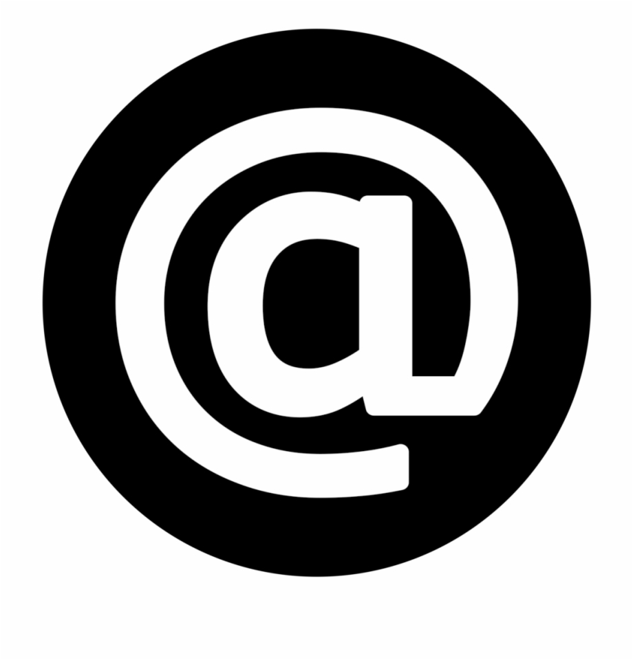 Email Icon White On Black.