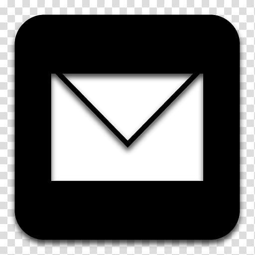 Black n White, email icon transparent background PNG clipart.