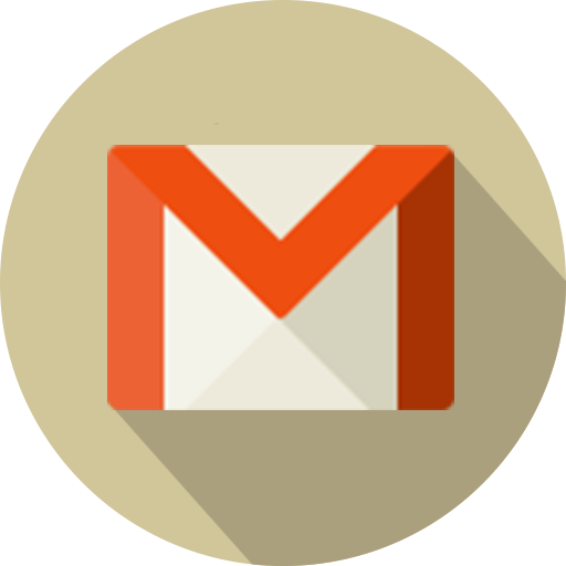 Circle, email, gmail, logo, mail, material icon.