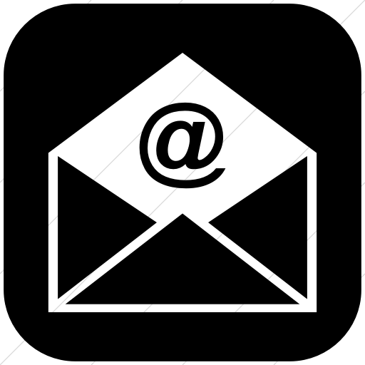 Email Icon Black Png #185505.