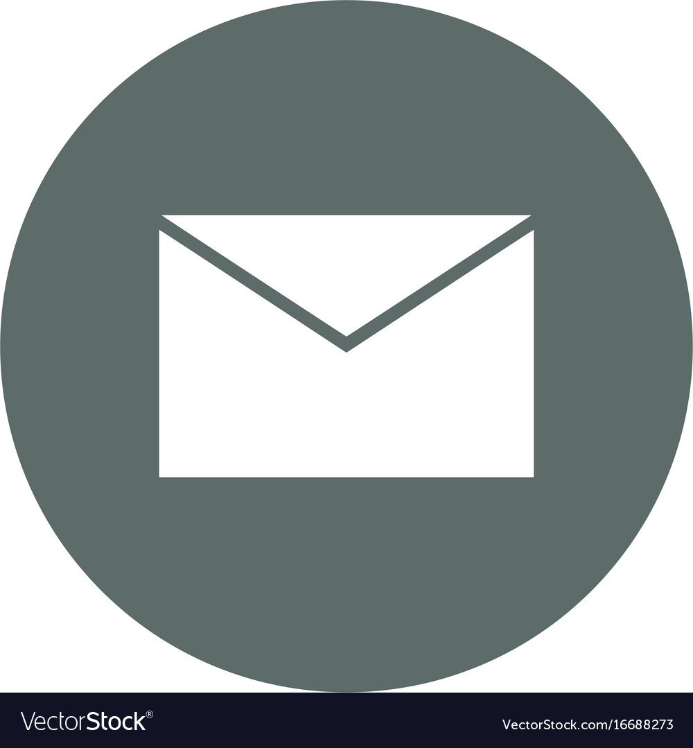 Mail or email round icon.