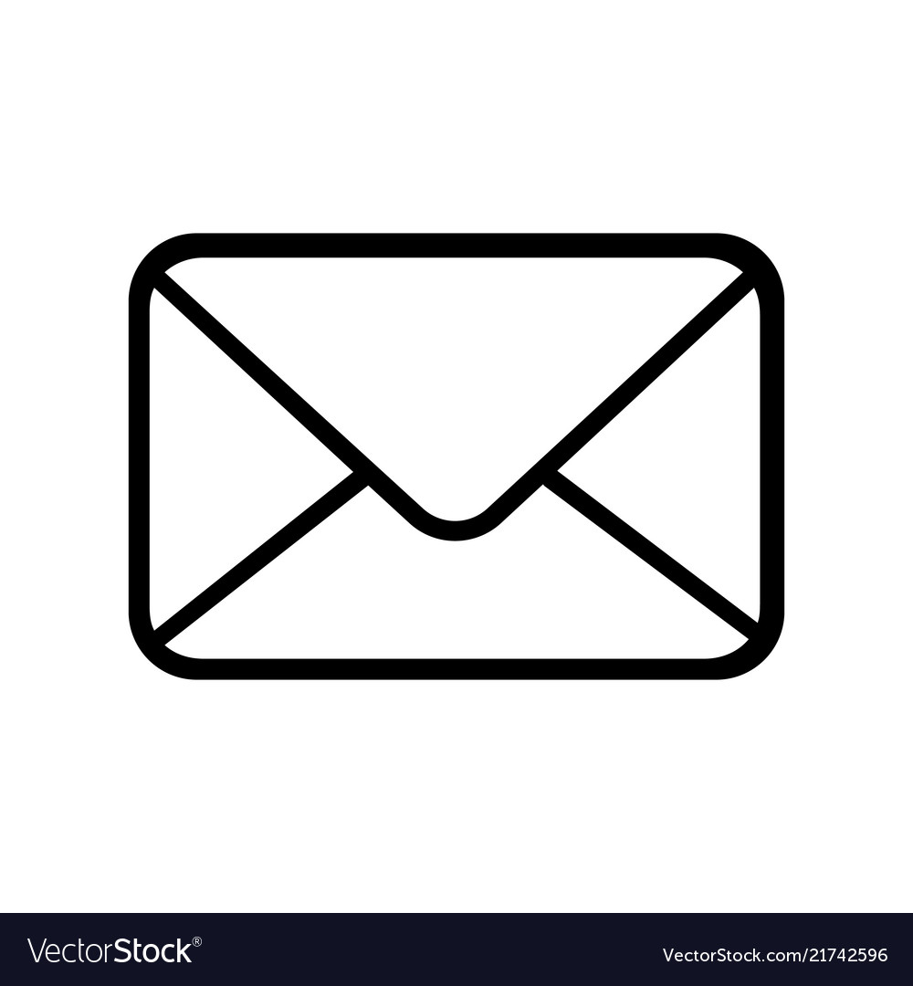 Email icon outline email icon isolated on white.