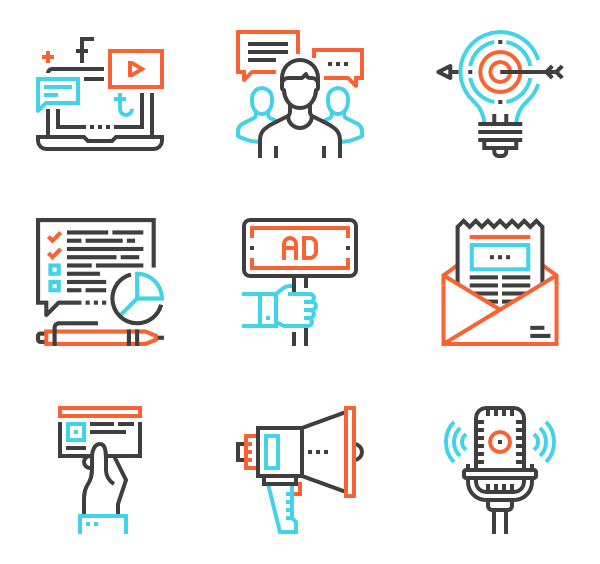 Email marketing Icons.