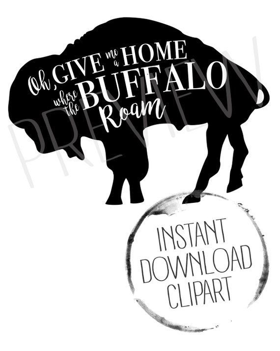 Buffalo Clipart, Buffalo Bison.