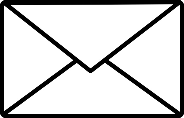 Mail Icon clip art Free vector in Open office drawing svg ( .svg.
