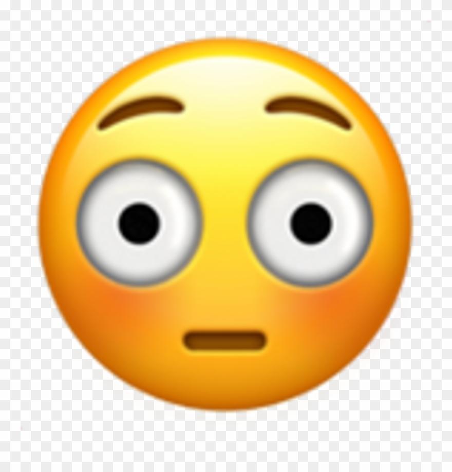 Embarrassed Face Emoji Png Clipart (#560108).