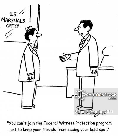 Witness Protection Program Cartoons and Comics.
