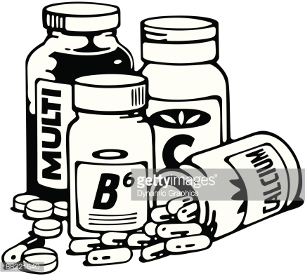 Vitamins And Minerals Supplements Multi B6 Calcium Layered Take.