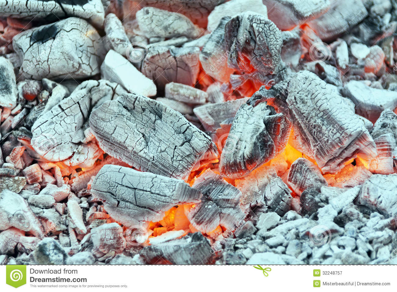 Embers Background Royalty Free Stock Photography.