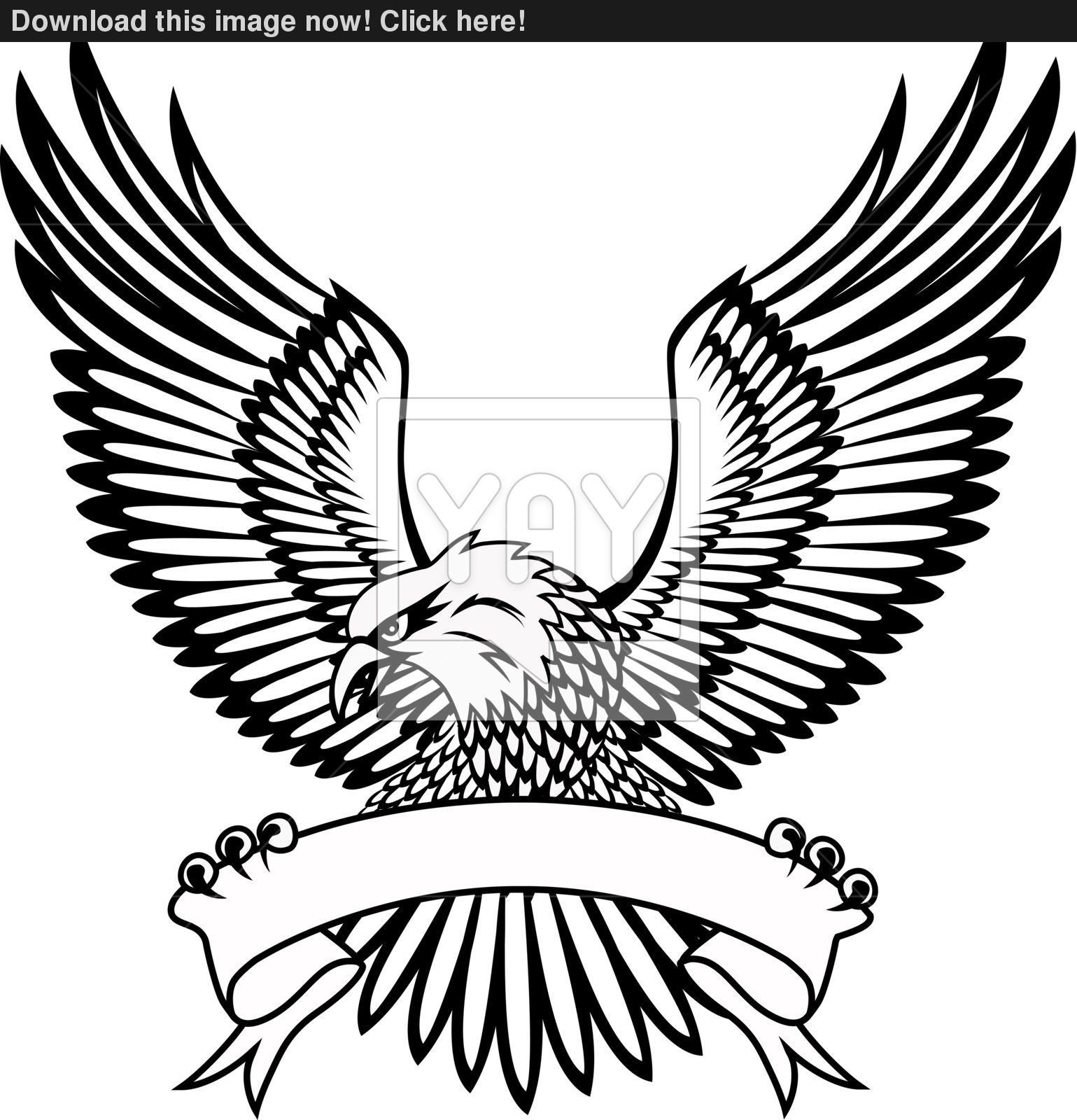 Vector illustration of eagle emblem vector.