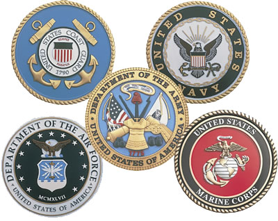 All Military Services Emblems Clipart.