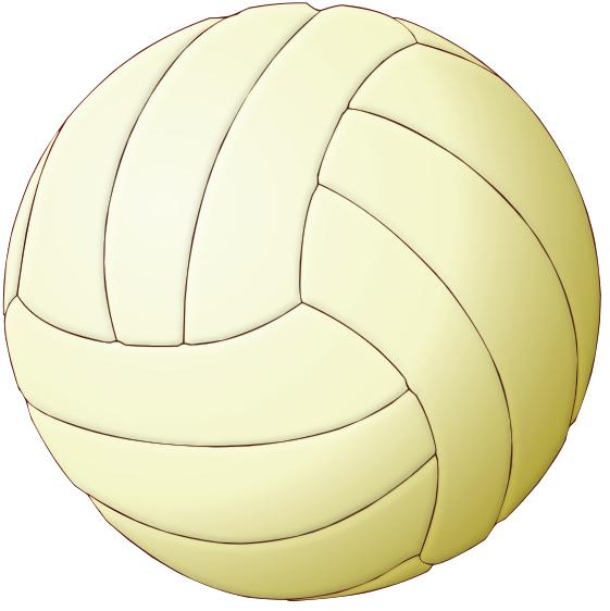 Volleyball Light Emboss Clip Art Download.