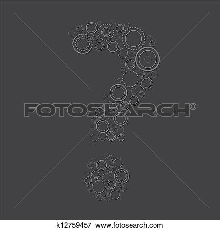 Clip Art of emboss question mark symbol k12759457.