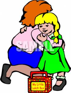 happy student and teacher hugging clipart #19