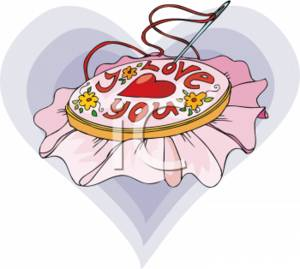 Embroidered Clipart.