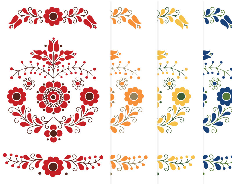 Mexican embroidery clipart.