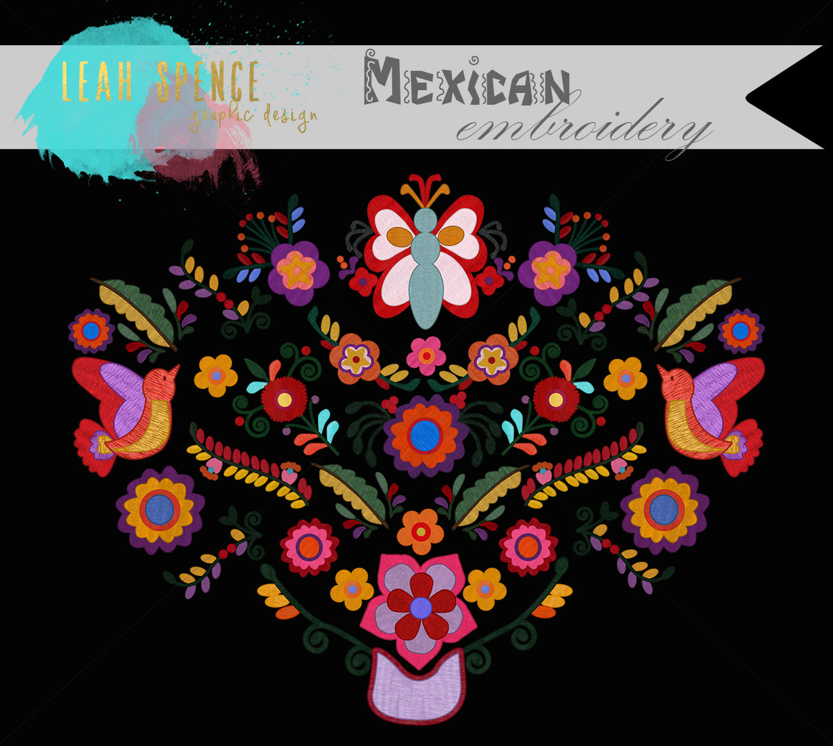 Mexican Embroidery Digital Clip Art Wedding by JustCallMeBlessed.
