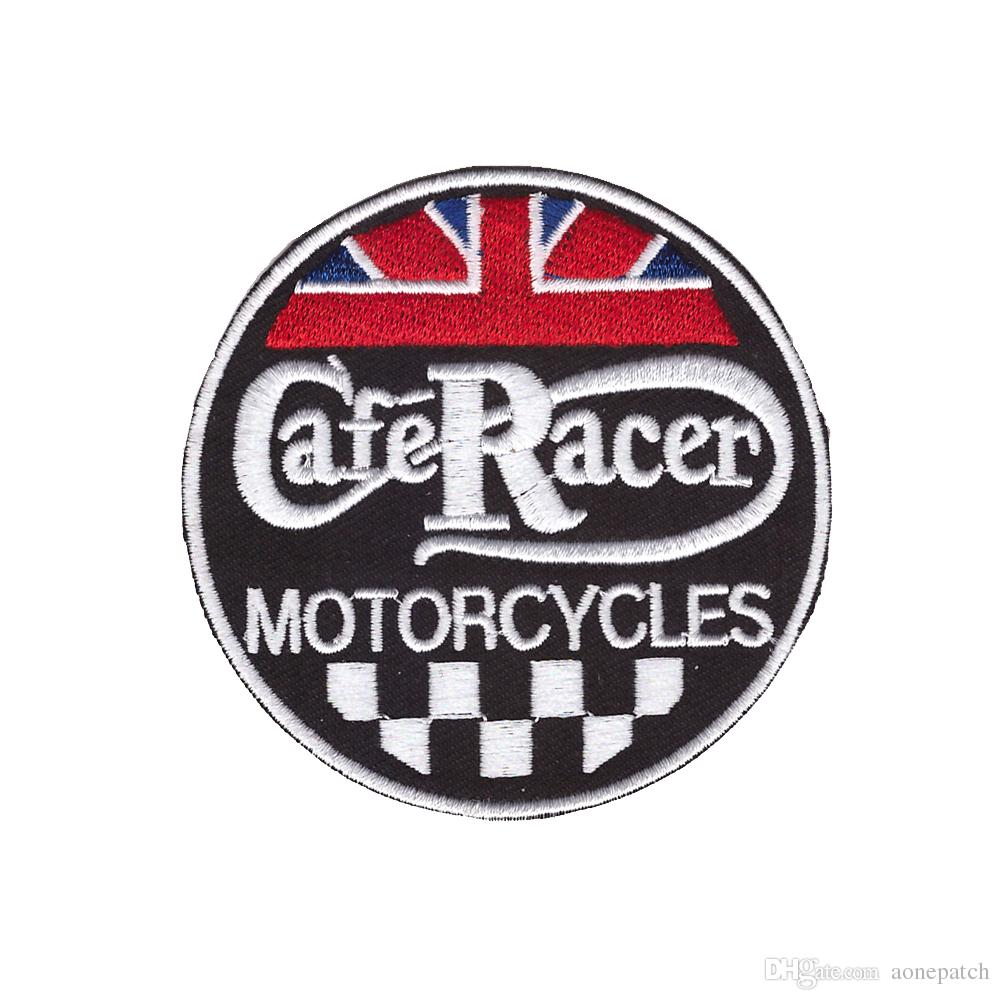 2019 Embroidered Logo Designs Patch CafeRacer Motorcycles Round Toppa  Ricamata Embroidery Iron On Patch For Jacket Jeans Clothing Badge From.