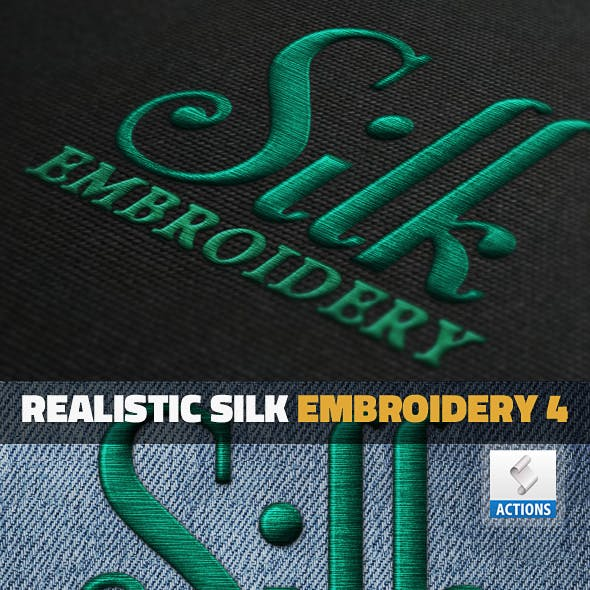 Embroidered Logo Photoshop Graphics, Designs & Templates.