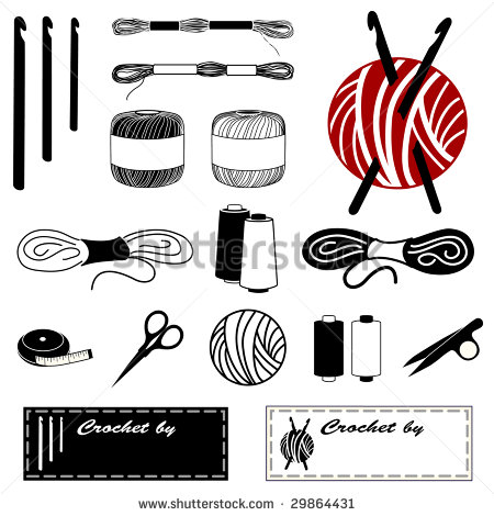 Embroidery Floss Clipart.