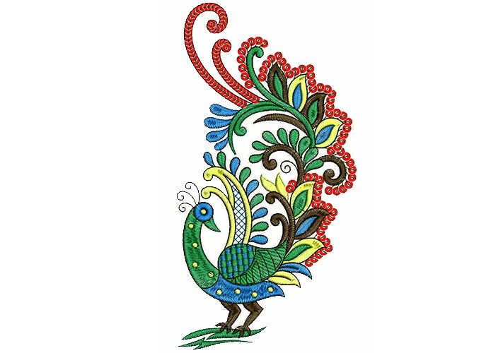Peacock clipart embroidery designs for you 2.