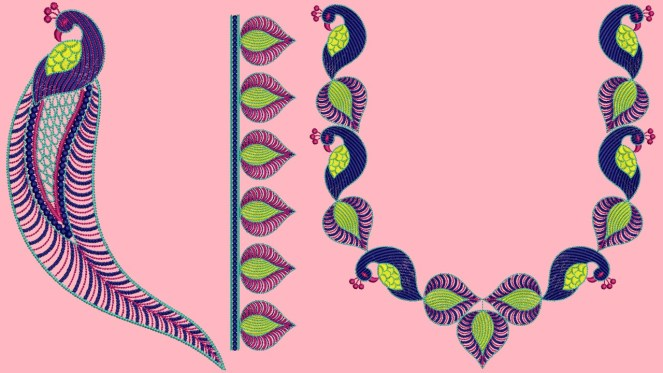 Best Peacock Embroidery Blouse Designs.