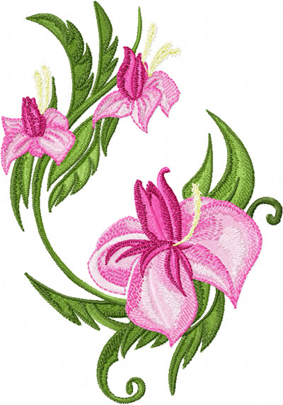 Flower Embroidery Design.