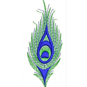 Peacock tail Embroidery Design.