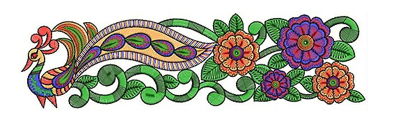 Best Peacock Clipart Embroidery Designs for You.