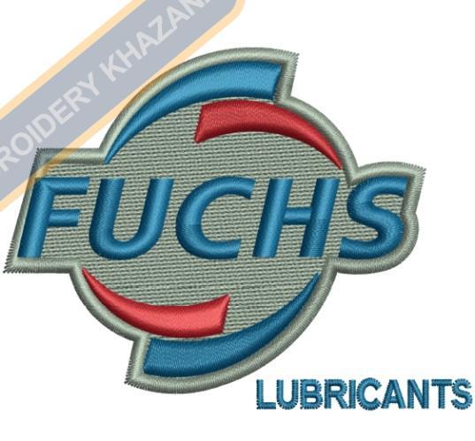 Fuchs Lubricants Logo Embroidery Design.
