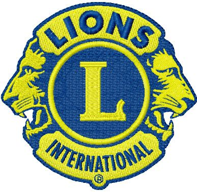 lions international embroidery logo.