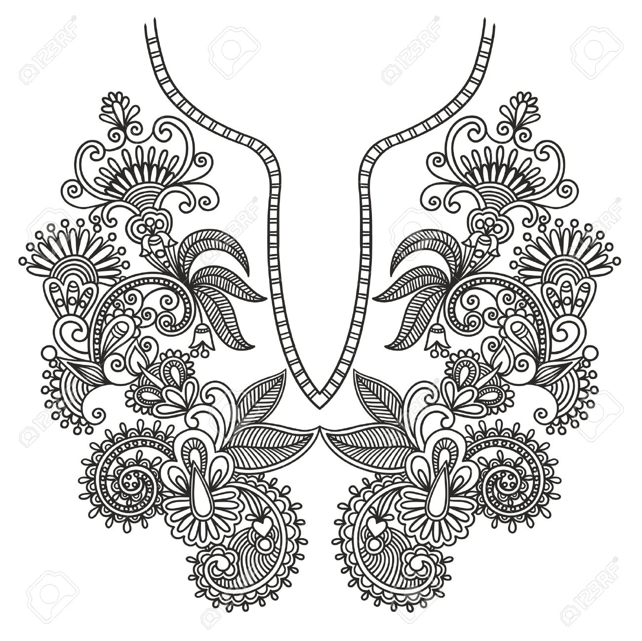 47,546 Embroidery Pattern Stock Vector Illustration And Royalty.