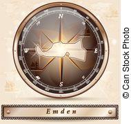 Emden Vector Clipart EPS Images. 3 Emden clip art vector.