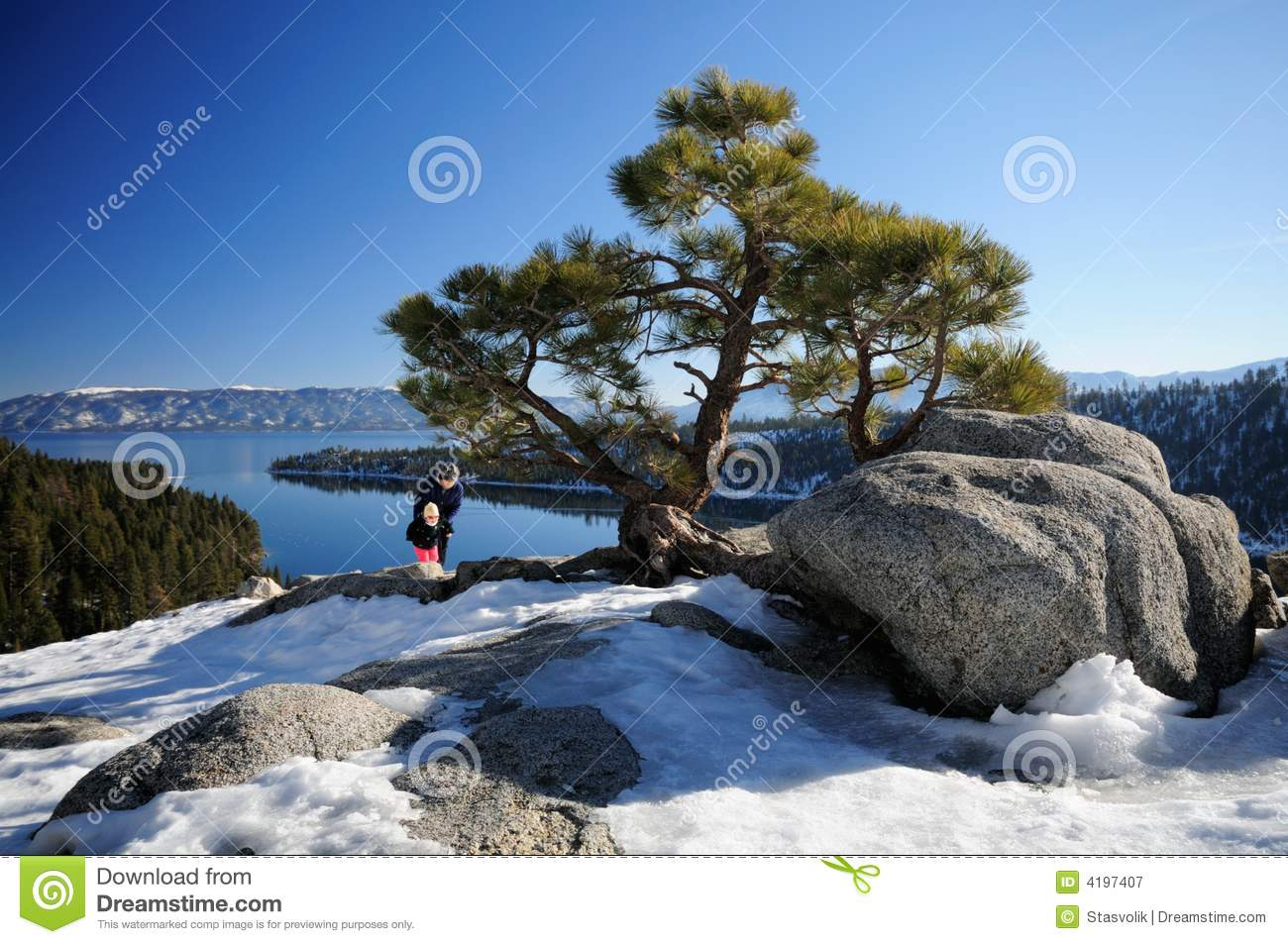 Emerald Bay Viewpoint, Lake Tahoe Royalty Free Stock Photography.