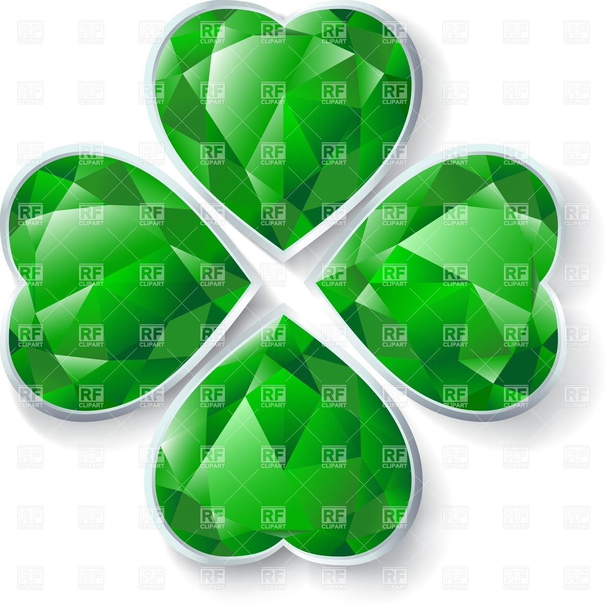 Four leaves emerald clover Vector Image #25050.