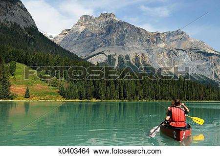 Stock Photo of Emerald lake k0403464.